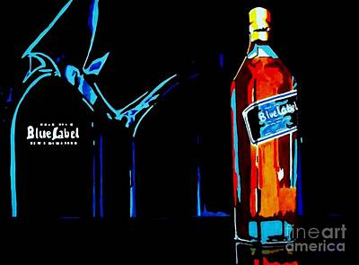 Painting - Johnny Walker Blue by Kyle  Brock