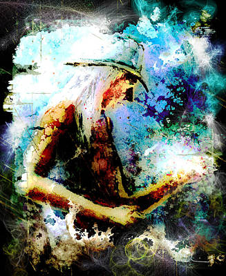 Painting - Johnny Winter Madness by Miki De Goodaboom