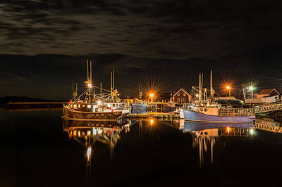 Boats Photograph - John's Cove Reflections - Revisited by Garvin Hunter