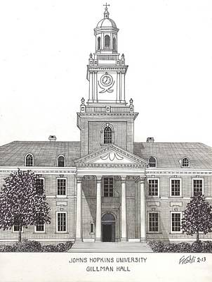 Drawing - Johns Hopkins University by Frederic Kohli