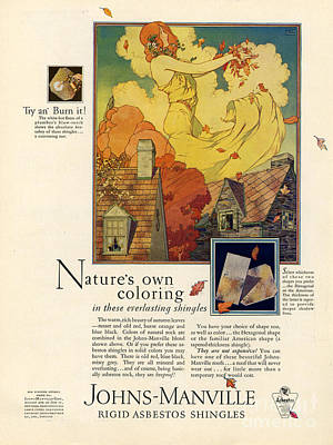 Johns-manville 1927 Usa Cc  Asbestos Art Print by The Advertising Archives