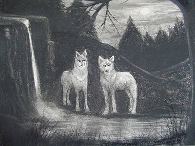Digital Art - John's Wolves by Angela Stout