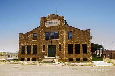 Ancient Photograph - Johnson Building Tucumcari New Mexico by Deborah Smolinske