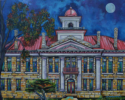 Painting - Johnson City Court House by Patti Schermerhorn
