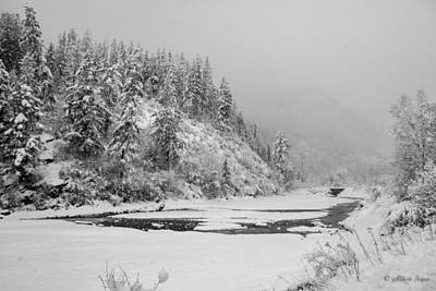 Photograph - Johnson Creek In Winter -  141228a-459 by Albert Seger