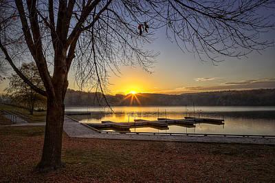 Photograph - Johnson Lake Sunrise by Jeff Burton