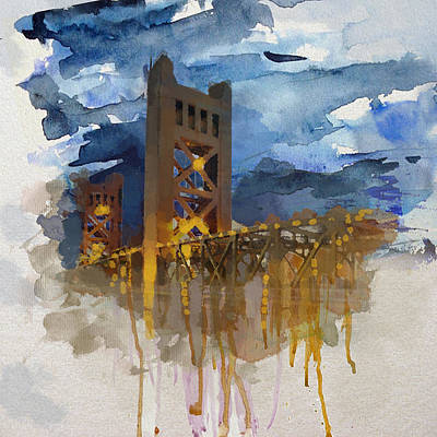 Painting - Johnson Street Bridge 8 by Mahnoor Shah