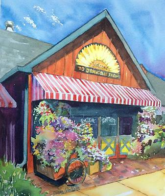 Nj Farm Stand Painting - Johnson's Corner Farm Medford Nj by Diane Wallace