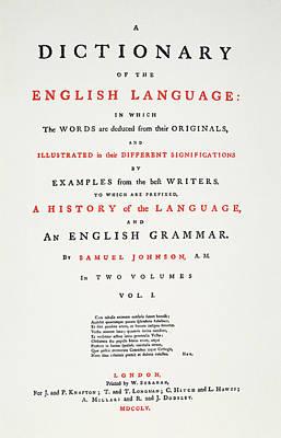Johnson's Dictionary, 1755 Art Print by Granger