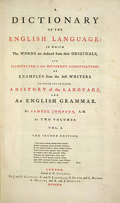 Dictionary Photograph - Johnson's Dictionary by British Library