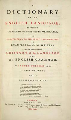 Johnson's Dictionary Art Print