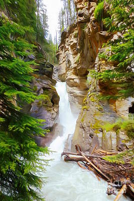 Johnston Waterfall Art Print by John Kreiter