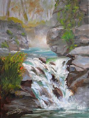 Beautiful Creek Painting - Johnston's Canyon by Mohamed Hirji