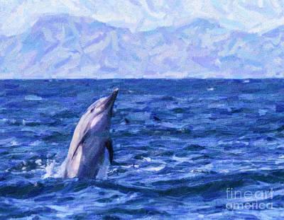 Cetacean Digital Art - Joie De Vivre by Liz Leyden