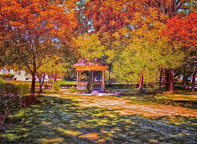Join Me In The Gazebo On This Beautiful Autumn Day Art Print by Thomas Woolworth