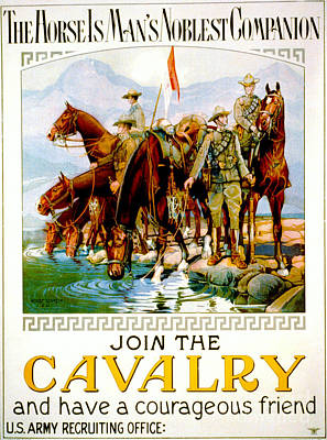 Join The Cavalry 1920 Art Print by Padre Art