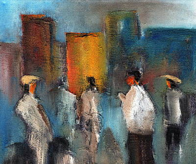 Painting - Join The Queue by Val Byrne