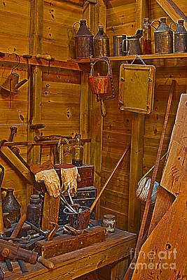Photograph - Joiners Tools Hdr by Terri Waters