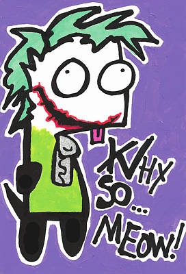 Why So Serious Drawing - Joke-gir by Jera Sky