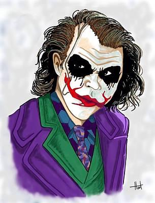 Heath Ledger Digital Art - Joker by Bill Hunt