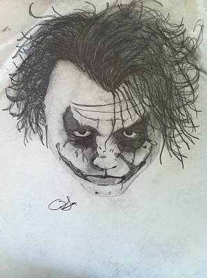 Why So Serious Drawing - Joker by Blake Mcmillon