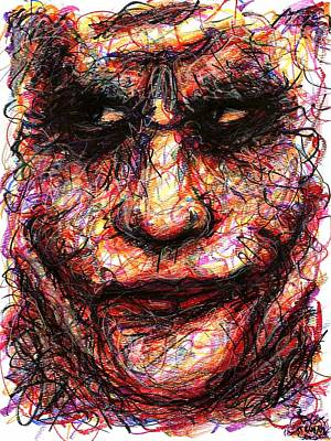 Drawing - Joker - Face II by Rachel Scott