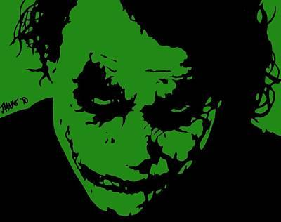 Heath Ledger Digital Art - Joker Green by Jeremy Moore