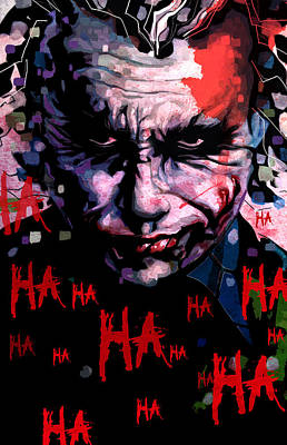 Heath Ledger Wall Art - Painting - Joker by Jeremy Scott
