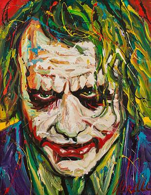 Heath Ledger Wall Art - Painting - Joker by Michael Wardle