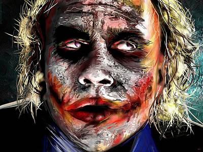 Heath Ledger Painting - Joker Painting by Daniel Janda