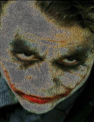 The Dark Knight Drawing - Joker Quotes Mosaic by Paul Van Scott