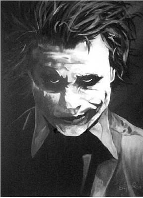 Heath Ledger Painting - Joker by Stephen Rea