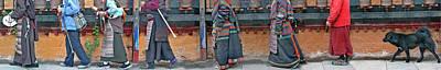 Jokhang Pilgrims Art Print