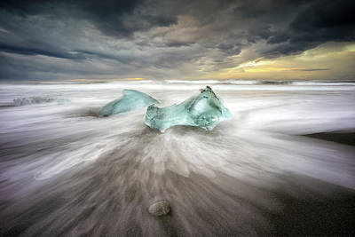 Ice Crystal Photograph - Jokulsarlon Beach by Keller