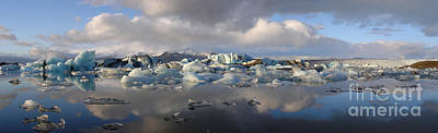 Photograph - Jokulsarlon Glacier Lagoon Panorama by IPics Photography