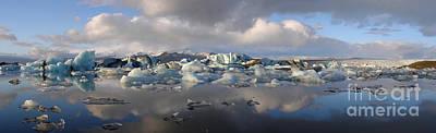 Jokulsarlon Glacier Lagoon Panorama Art Print