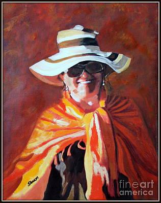 Poncho Painting - Jolanta By Sharon Burger by Jolanta Anna Karolska