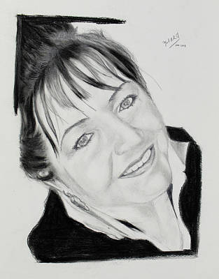 Drawing - Jolanta - Step 2 by Miguel Rodriguez
