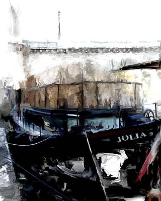 Paris Skyline Royalty-Free and Rights-Managed Images - Jolia in the Seine by Evie Carrier