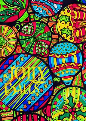 Digital Art - Jolly Balls by Kathy Bassett