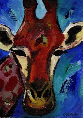 Painting - Jolly Giraffe  by Katie Sasser