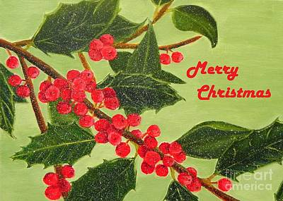 Painting - Jolly Holly Berries - Christmas Card by Shelia Kempf