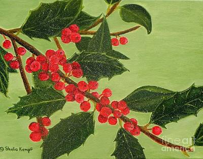 Painting - Jolly Holly Berries by Shelia Kempf