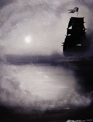 Ghost Ship Painting - Jolly Roger by Eugene Budden