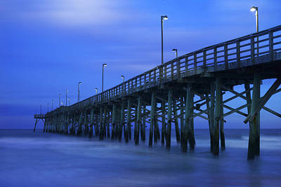 Atlantic Ocean Photograph - Jolly Roger Pier After Sunset by Mike McGlothlen