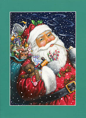 Painting - Jolly Santa by Lynn Bywaters