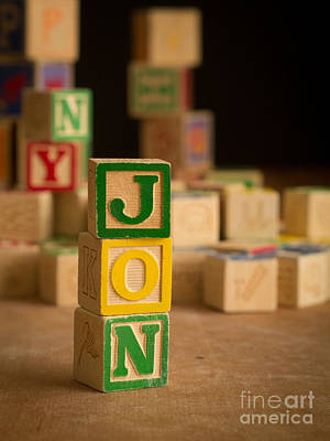 Photograph - Jon - Alphabet Blocks by Edward Fielding