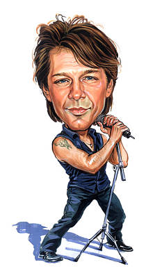 Musicians Royalty-Free and Rights-Managed Images - Jon Bon Jovi by Art