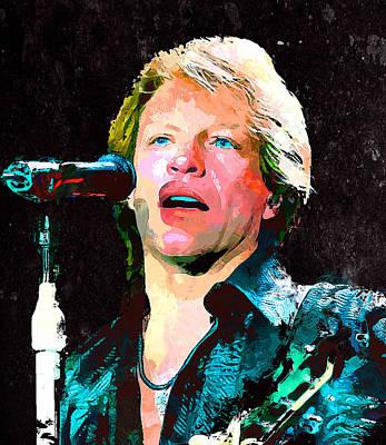 Jon Bon Jovi Concert Art Print