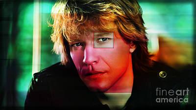 Jon Bon Jovi Over Jon Bon Jovi Art Print